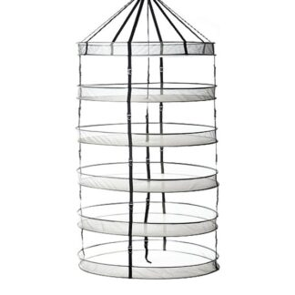 """Geopot Drying Rack - 6 Rack 36"""" Open Top with Buckle"""
